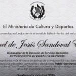 Lamentamos profundamente el fallecimiento de Manuel de Jesús Sandoval