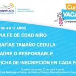 Curso de vacaciones en los 4 centros deportivos del Ministerio de cultura y Deportes