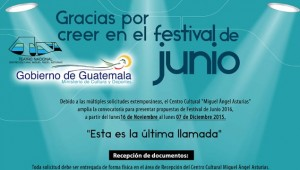 Festival de Junio convocatoria