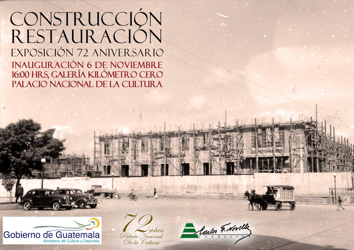 afiche exposicion aniversario Palacio nacional