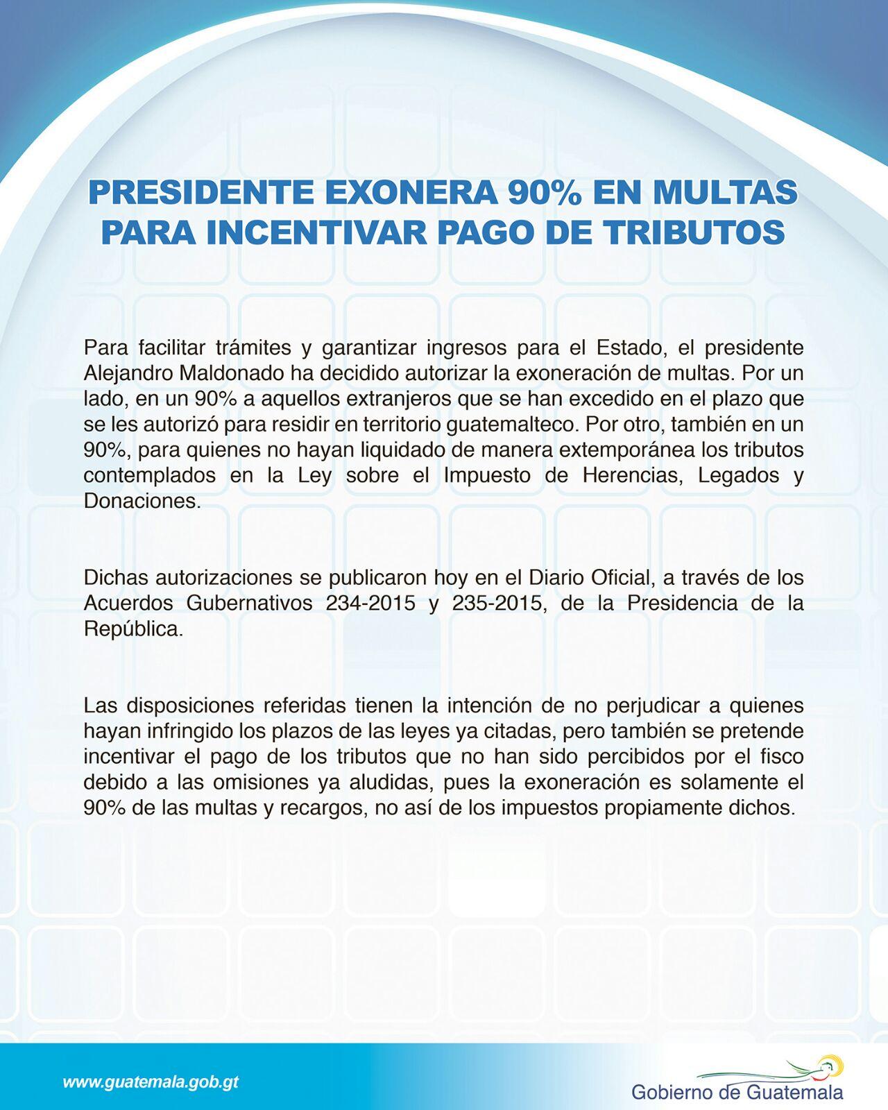 comunicado presidencial