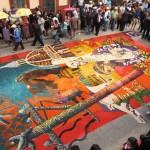 """Alfombra  """"La Reseña"""",  a cargo de los alumnos de la Escuela Nacional de Artes Plásticas (ENAP)"""