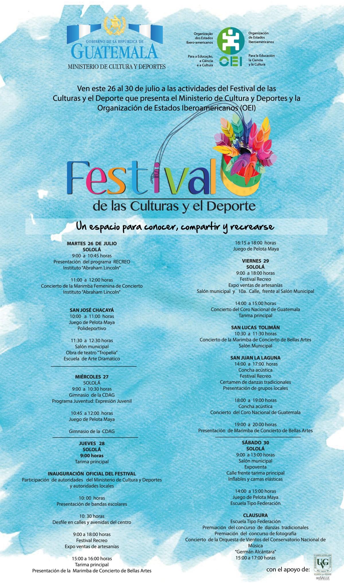 Afiche Festival de las Culturas y el Deporte
