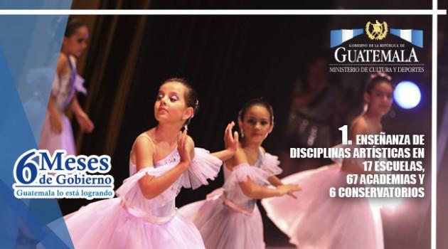 Escuelas de arte MCD 6 mESES DE GOBIERNO