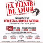 """La Orquesta Sinfónica Nacional le invita a disfrutar de """"El Elixir de Amor"""""""