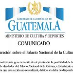 COMUNICADO: El Ministerio de Cultura y Deportes a la opinión pública informa: