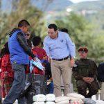 Ministro chea y presidente Morales entregan implementos en ixchiguan san marcos 3