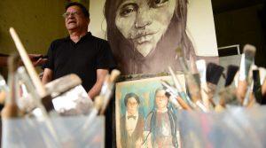 Fotos cortesía del Diario de Centroamérica y catálogo del artista