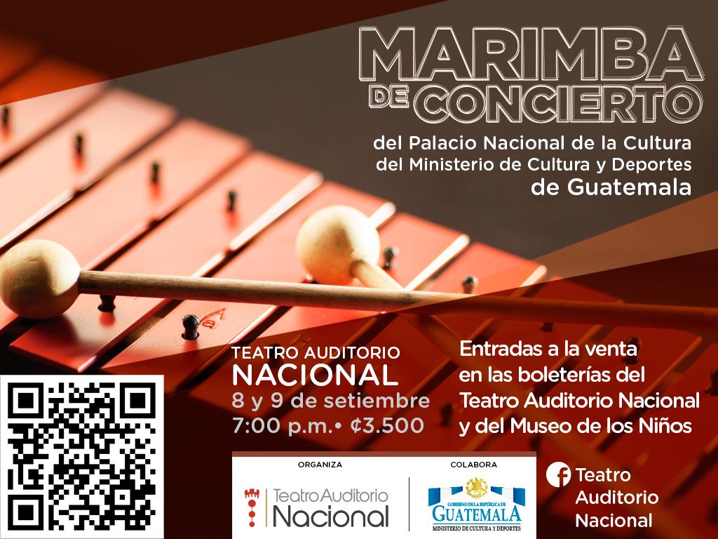 Marimba de Concierto del Palacio Nacional de la Cultura en Costa Rica