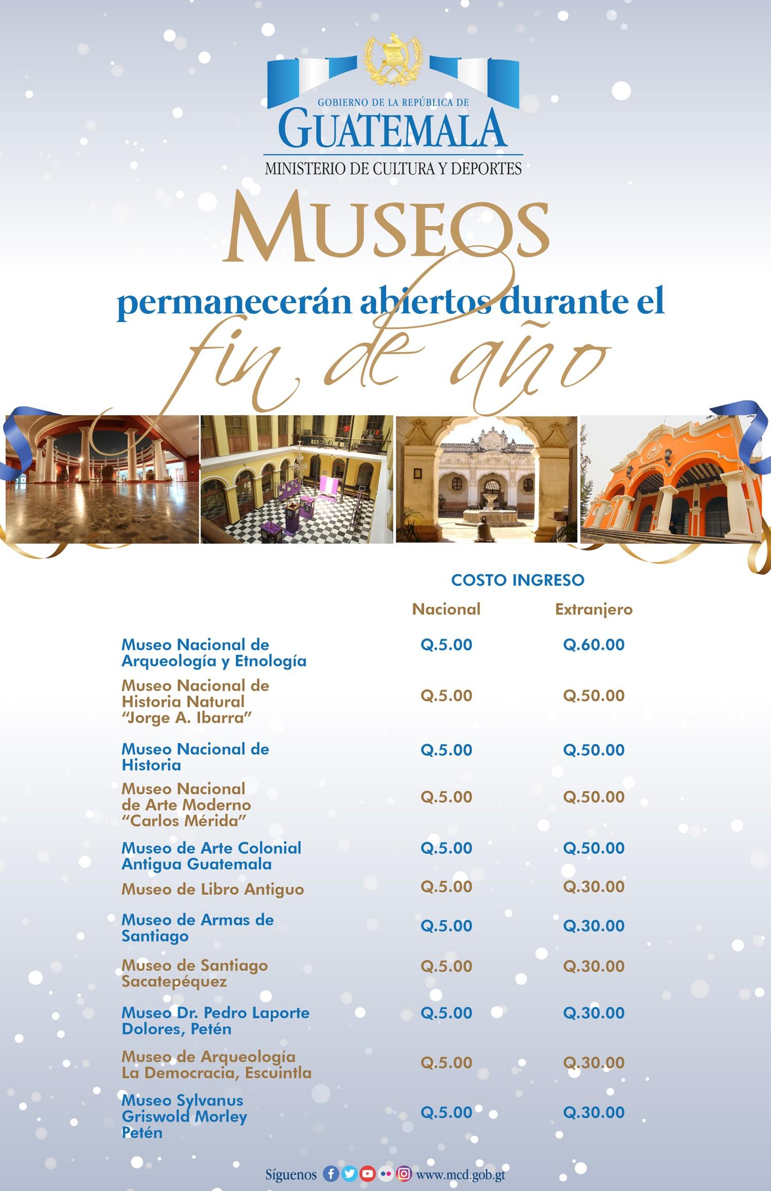MUSEOS FIN DE AÑO