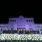 Fachada principal del Palacio Nacional de la Cultura se ilumina con el trabajo del Ministerio de Cultura y Deportes